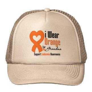 I Wear Ribbon (Grandma) - Leukemia Trucker Hat