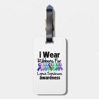 I Wear Ribbons For Lynch Syndrome Awareness Travel Bag Tag