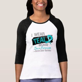 I Wear Teal Because I'm a Ovarian Cancer Survivor Tee Shirt