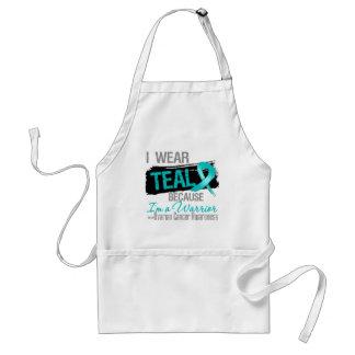 I Wear Teal Because I'm a Ovarian Cancer Warrior Adult Apron