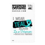 I Wear Teal Because I'm a Ovarian Cancer Warrior Stamps