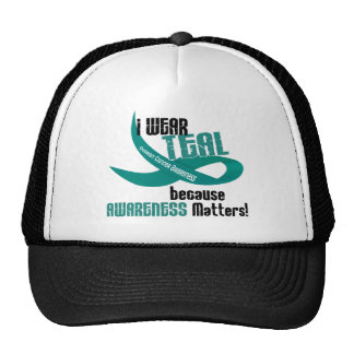 I Wear Teal For Awareness 33 OVARIAN CANCER Tees Trucker Hat