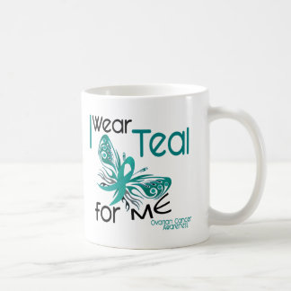 I Wear Teal For ME 45 Ovarian Cancer Coffee Mug