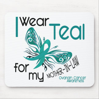 I Wear Teal For Mother-In-Law 45 Ovarian Cancer Mouse Pad