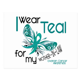 I Wear Teal For Mother-In-Law 45 Ovarian Cancer Postcard