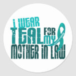 I Wear Teal For Mother-In-Law 6.4 Ovarian Cancer Sticker