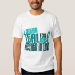I Wear Teal For Mother-In-Law 6.4 Ovarian Cancer Tee Shirt