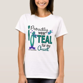 I Wear Teal For My Aunt 27 Ovarian Cancer T-Shirt