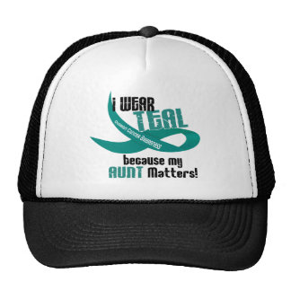 I Wear Teal For My Aunt 33 OVARIAN CANCER T-Shirts Trucker Hat