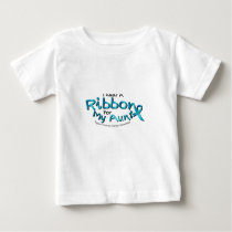 I Wear Teal For My Aunt Ovarian Cancer Awareness Baby T-Shirt