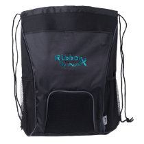 I Wear Teal For My Aunt Ovarian Cancer Awareness Drawstring Backpack