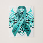 I Wear Teal for my Aunt.png Jigsaw Puzzles