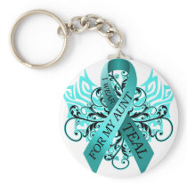 I Wear Teal for my Aunt.png Keychain