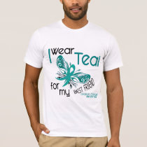 I Wear Teal For My Best Friend 45 Ovarian Cancer T-Shirt