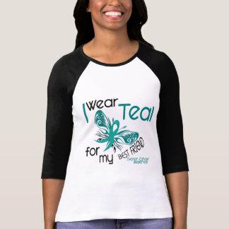 I Wear Teal For My Best Friend 45 Ovarian Cancer T Shirt