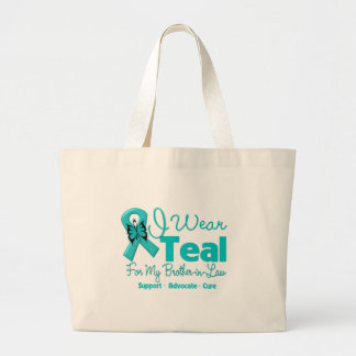 I Wear Teal For My Brother-in-Law Tote Bags
