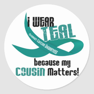 I Wear Teal For My Cousin 33 OVARIAN CANCER Tees Stickers