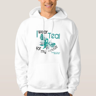 I Wear Teal For My Cousin 45 Ovarian Cancer Hoodie