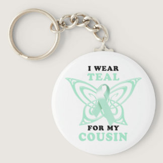 I Wear Teal for my Cousin Keychain