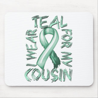 I Wear Teal for my Cousin.png Mouse Pad
