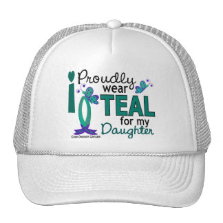 I Wear Teal For My Daughter 27 Ovarian Cancer Trucker Hat