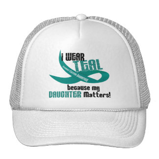 I Wear Teal For My Daughter 33 OVARIAN CANCER Tees Trucker Hat