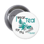 I Wear Teal For My Daughter 45 Ovarian Cancer Buttons