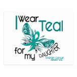 I Wear Teal For My Daughter 45 Ovarian Cancer Postcard