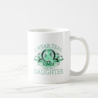 I Wear Teal for my Daughter (floral).png Coffee Mug