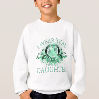 I Wear Teal for my Daughter (floral).png Sweatshirt