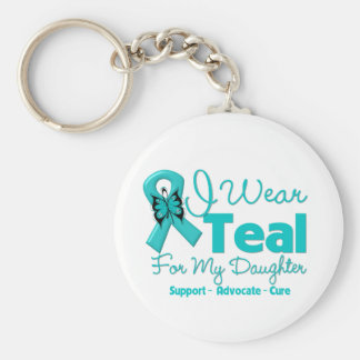 I Wear Teal For My Daughter Keychain
