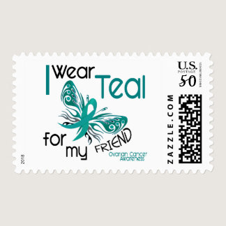 I Wear Teal For My Friend 45 Ovarian Cancer Postage