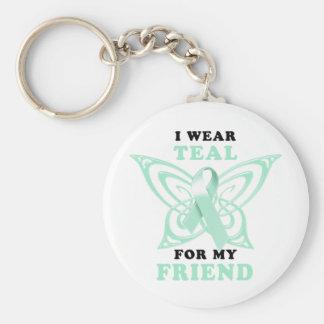 I Wear Teal for my Friend Keychain
