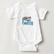 I Wear Teal For My Friend Ovarian Cancer Awareness Baby Bodysuit