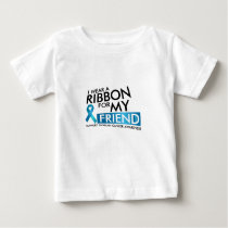 I Wear Teal For My Friend Ovarian Cancer Awareness Baby T-Shirt