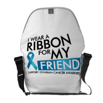 I Wear Teal For My Friend Ovarian Cancer Awareness Courier Bag