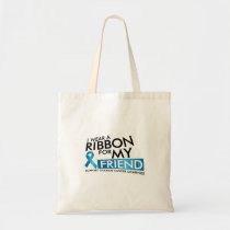 I Wear Teal For My Friend Ovarian Cancer Awareness Tote Bag