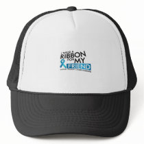 I Wear Teal For My Friend Ovarian Cancer Awareness Trucker Hat