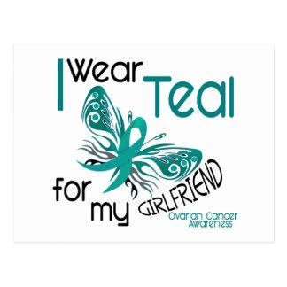 I Wear Teal For My Girlfriend 45 Ovarian Cancer Postcard