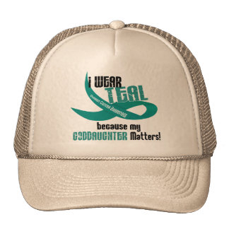 I Wear Teal For My Goddaughter 33 T-Shirts & Gifts Trucker Hat
