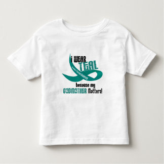 I Wear Teal For My Godmother 33 T-Shirts & Gifts