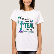 I Wear Teal For My Granddaughter 27 Ovarian Cancer T-Shirt