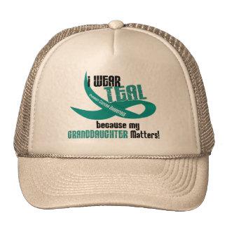 I Wear Teal For My Granddaughter 33 Apparel Trucker Hat
