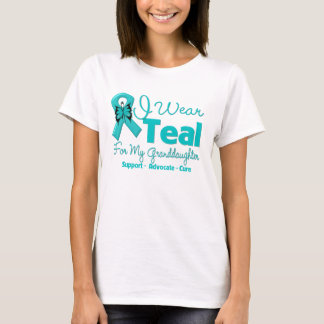 I Wear Teal For My Granddaughter T-Shirt