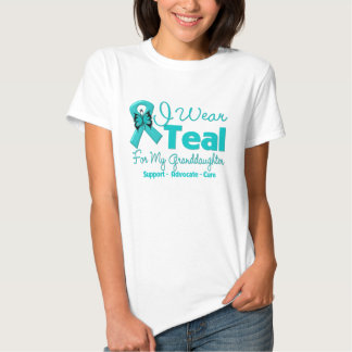 I Wear Teal For My Granddaughter Tee Shirts