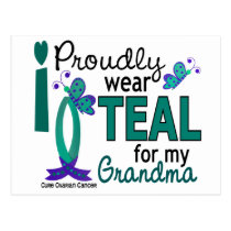 I Wear Teal For My Grandma 27 Ovarian Cancer Postcard