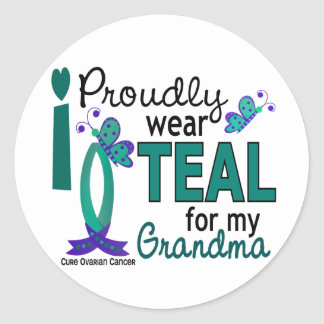 I Wear Teal For My Grandma 27 Ovarian Cancer Stickers