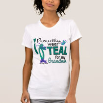I Wear Teal For My Grandma 27 Ovarian Cancer T-Shirt