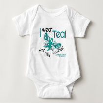 I Wear Teal For My Grandma 45 Ovarian Cancer Baby Bodysuit