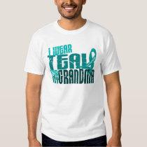 I Wear Teal For My Grandma 6.4 Ovarian Cancer Tee Shirt